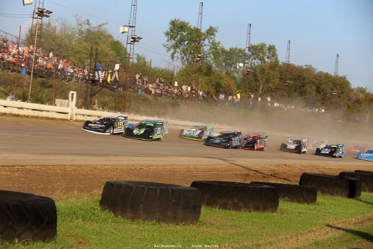 Mike Marlar, Jimmy Owens and Scott Bloomquist in the Pittsburgher 100 - LOLMDS 1482