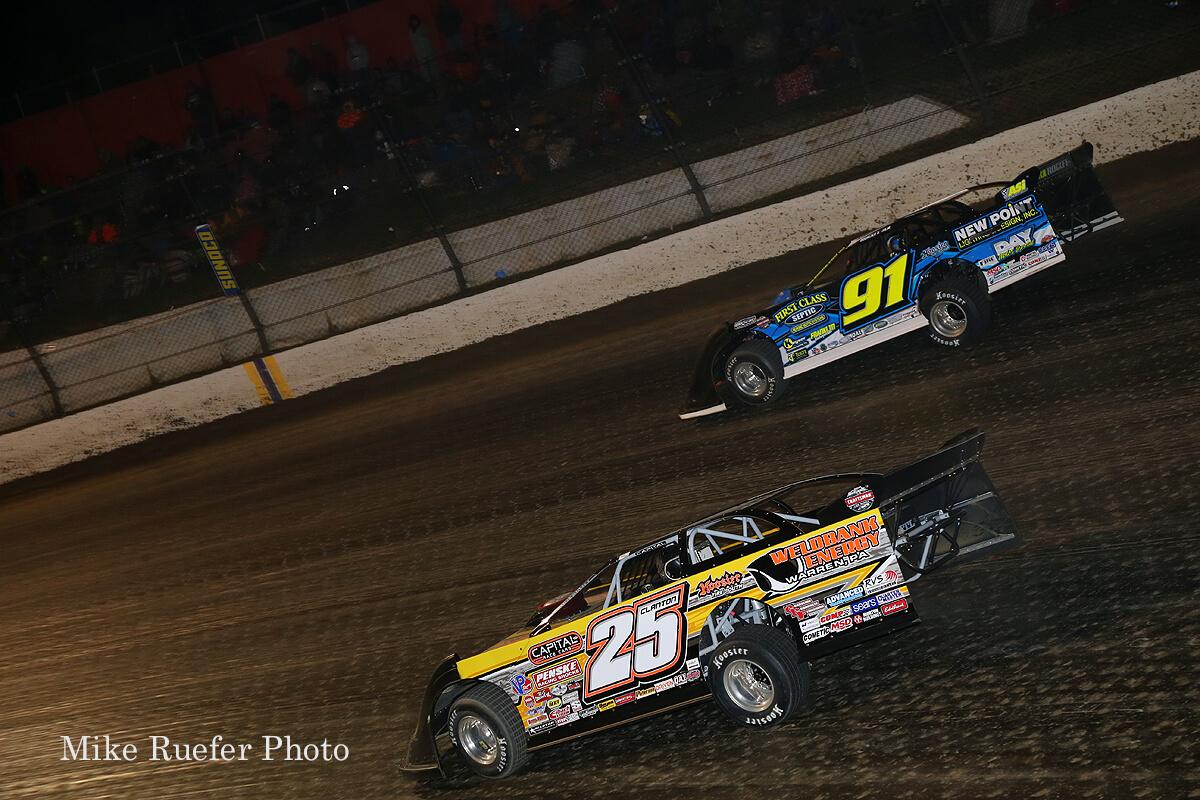 Shane Clanton and Tyler Erb at Eldora Speedway