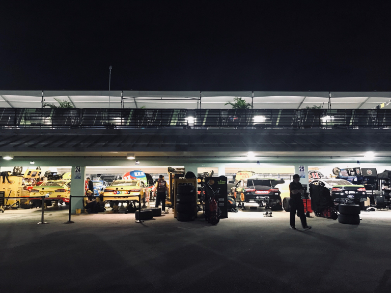 2018 NASCAR Championship 4 in the Homestead-Miami Speedway garage area