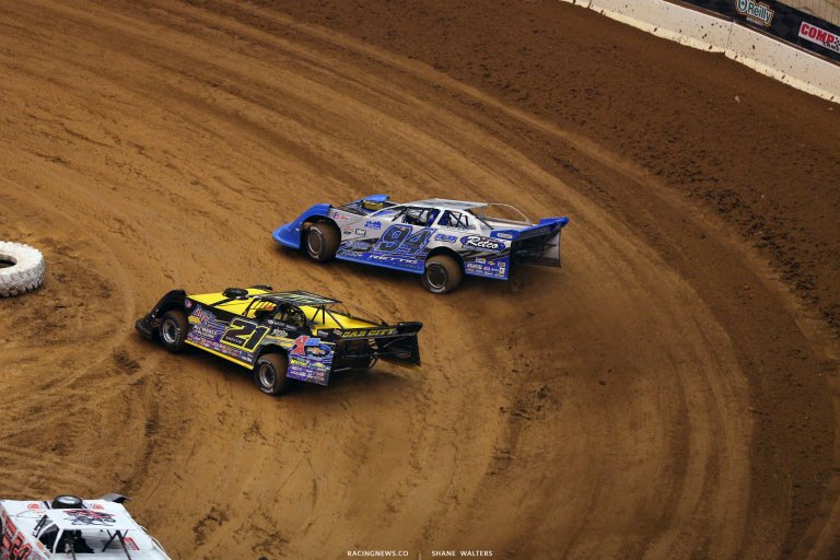 Billy Moyer and Austin Rettig in the Gateway Dirt Nationals 3794