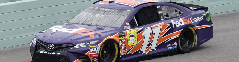 Denny Hamlin grabbed the pole at Homestead; Will he leave the first pit stall for his teammate?