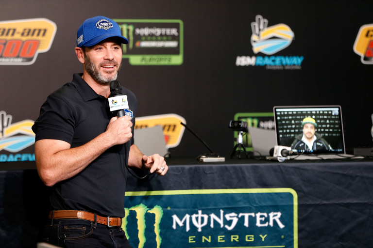 Jimmie Johnson and Fernando Alonso at ISM Raceway