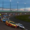 Joey Logano, Kevin Harvick, Martin Truex Jr and Kyle Busch lead the field at Homestead-Miami Speedway - NASCAR Cup Series