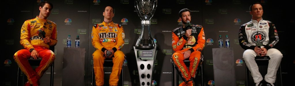 Kyle Busch threw a jab at Joey Logano on the stage; Logano didn't bite