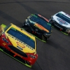 Joey Logano leads at Homestead-Miami Speedway