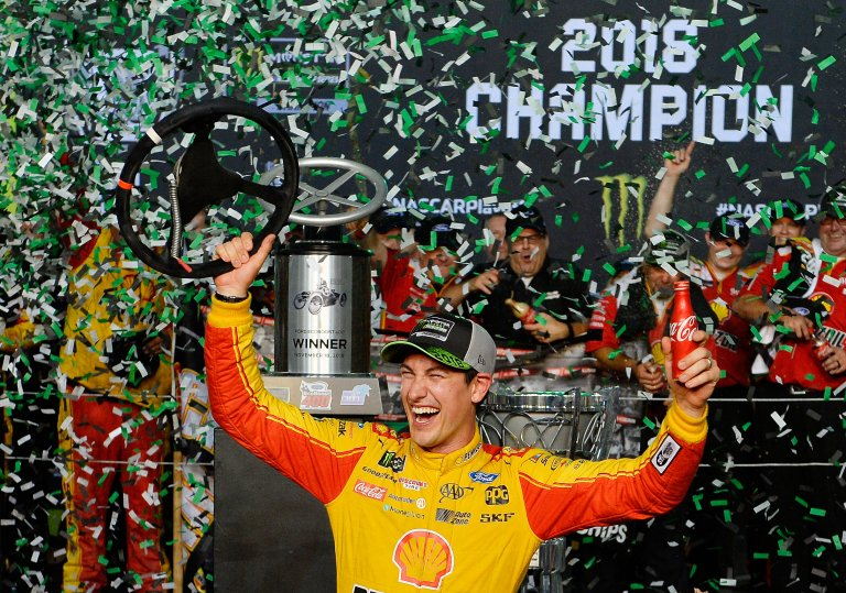 Joey Logano wins the 2018 Monster Energy NASCAR Cup Series championship