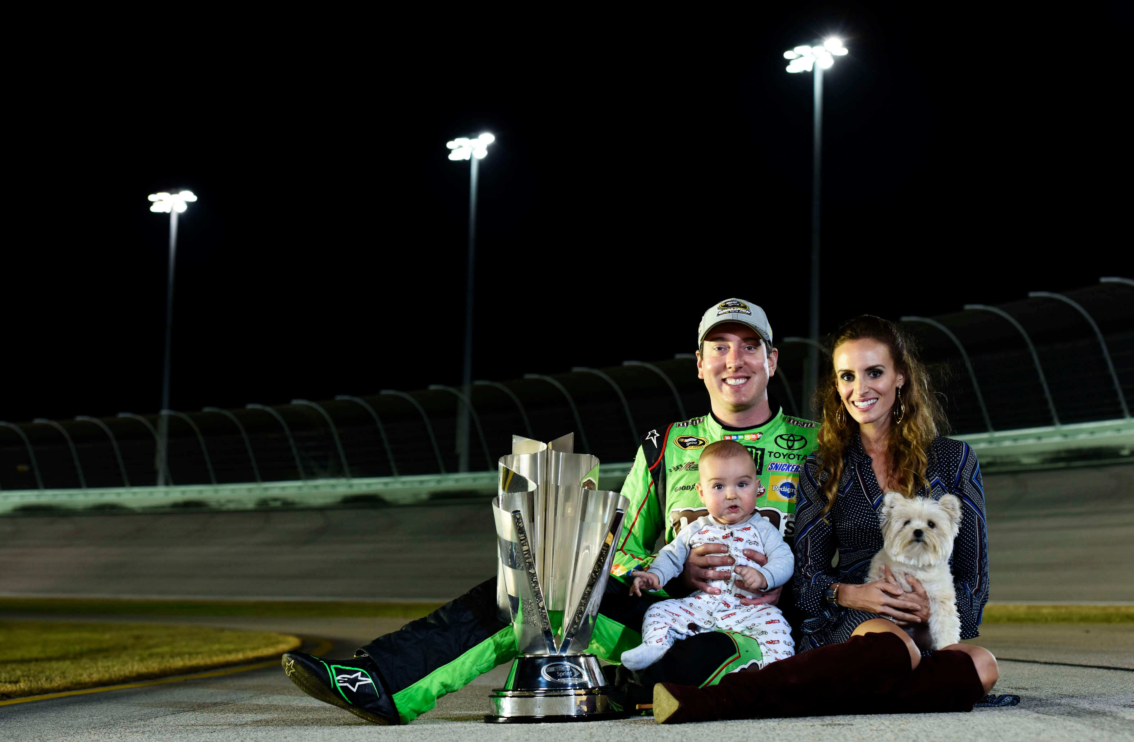Kyle Busch and Samantha Busch - 2015 NASCAR Champion