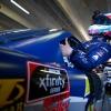 NASCAR Xfinity Series garage at Texas Motor Speedway