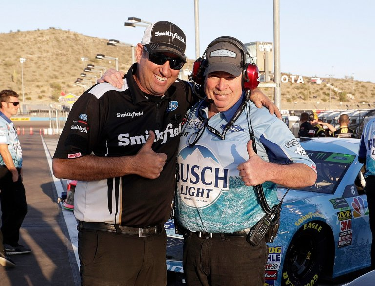 "Tony ""old man"" Gibson at ISM Raceway with Kevin Harvick"