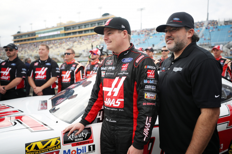 Tony Stewart and Cole Custer - NASCAR