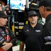 Tony Stewart on the pit lane with Cole Custer at Homestead-Miami Speedway - NASCAR