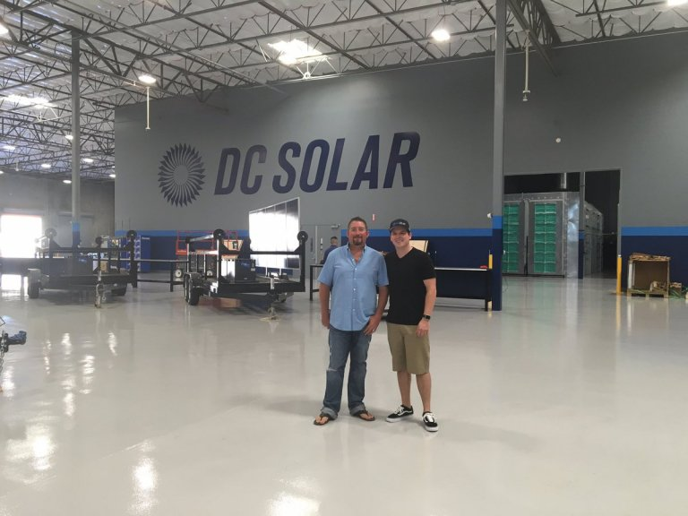 Jeff Carpoff and Brennan Poole in the DC Solar complex