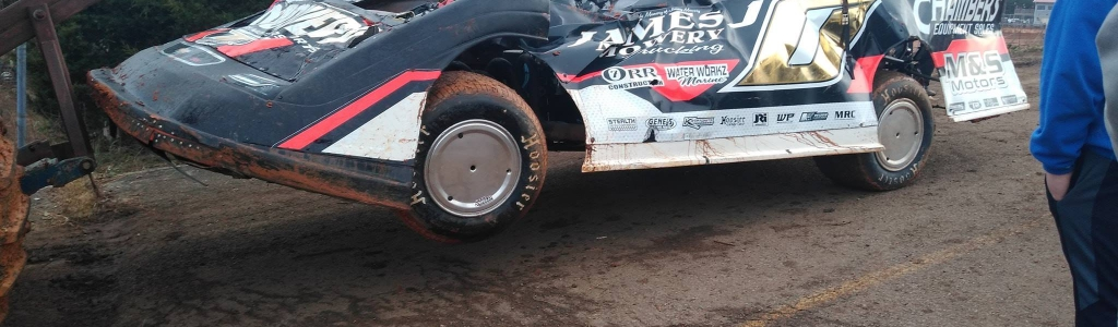 John Ownbey was involved in a wicked crash at 411 Motor Speedway