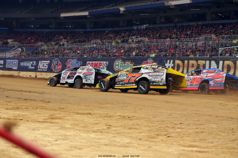 Josh Harris, Ray Bollinger and Mike McKinney - Dirt Modifieds at The Dome 4107