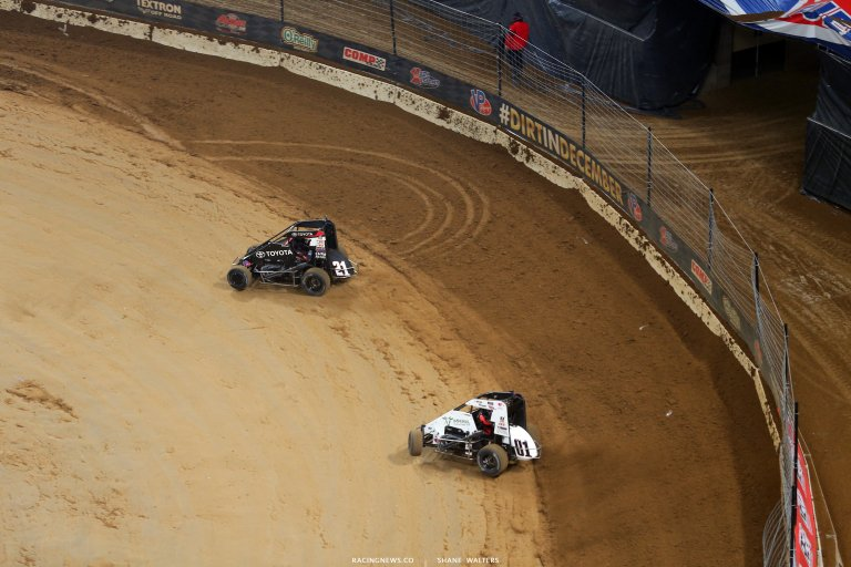 Kyle Larson and Christopher Bell in the Gateway Dirt Nationals 5519