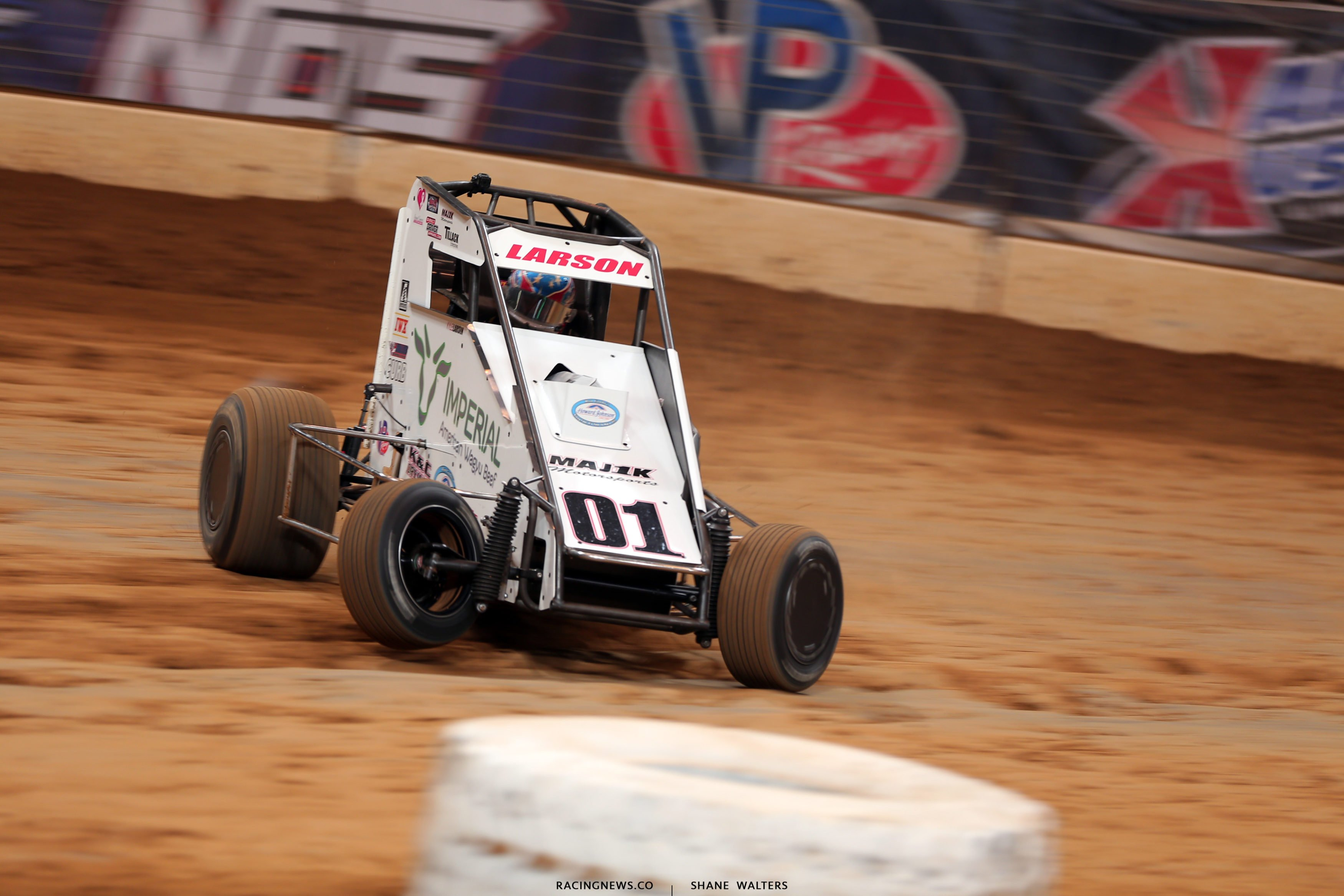Kyle Larson at the Gateway Dirt Nationals in St. Louis - Dirt Midgets in The Dome 4388