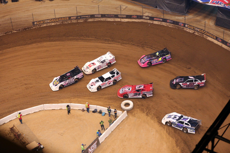 Manny Falcon, Tanner English, Freddie Carpenter and Rusty Schlenk in the Gateway Dirt Nationals 4805