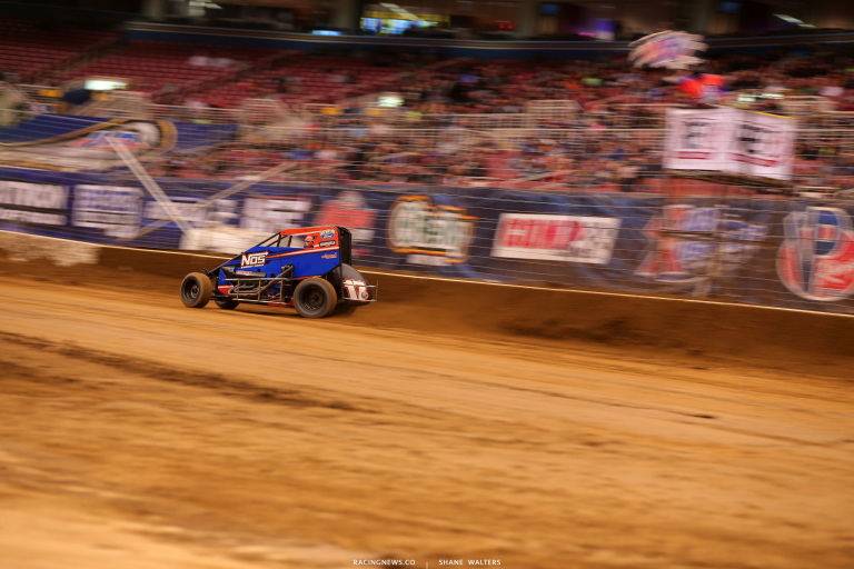 Ricky Stenhouse Jr in the Gateway Dirt Nationals - Dirt Midget Racing 3685