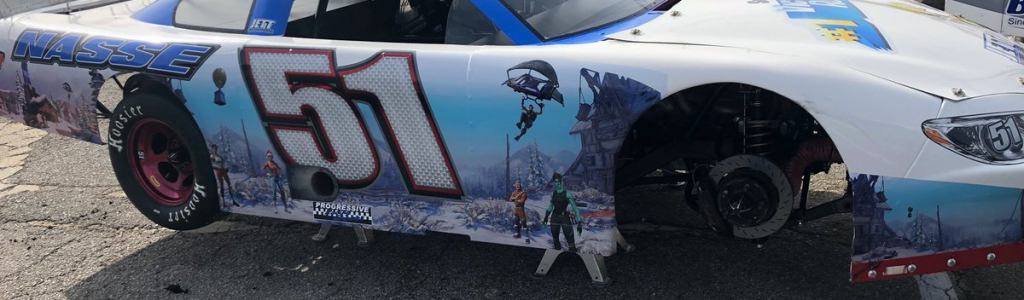 Stephen Nasse tossed his helmet and hans device at his own crew at 5 Flags Speedway