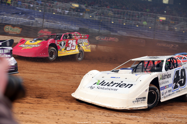 Tim McCreadie and Johnathan Davenport in the Gateway Dirt Nationals 5330