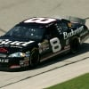Dale Earnhardt Jr black number 8 at Talladega Superspeedway in April 2006
