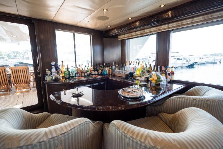 Dale Earnhardt yacht interior