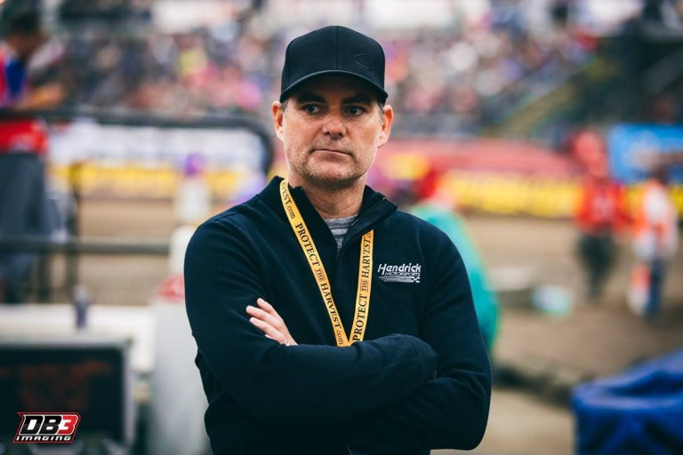 Jeff Gordon at the Chili Bowl Nationals
