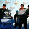 Joe Gibbs, JD Gibbs and Kyle Busch in victory lane