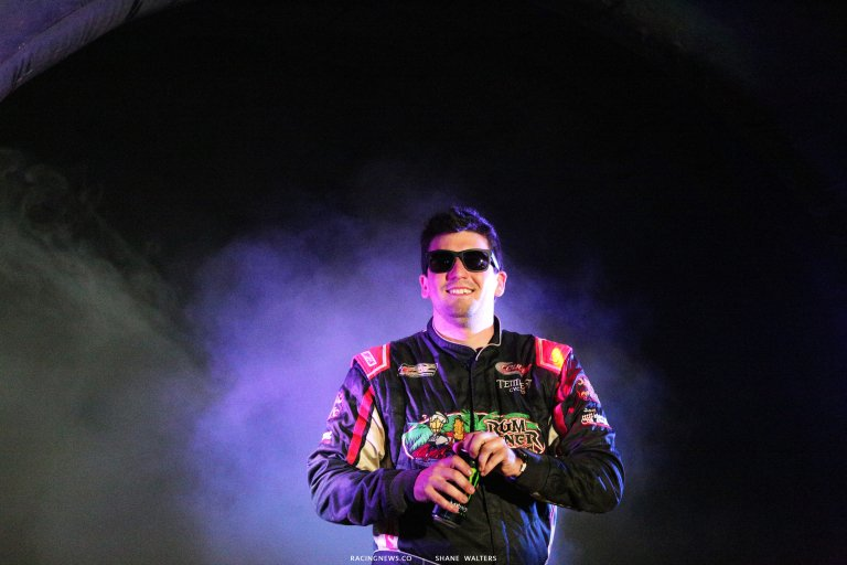 Joey Coulter during driver intros for the Gateway Dirt Nationals