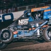 Justin Grant in the Chili Bowl Nationals