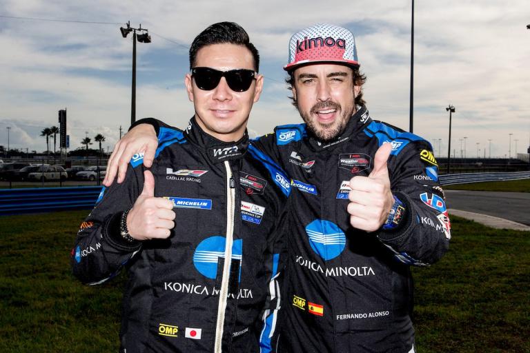 Kamui Kobayashi and Fernando Alonso - Wayne Taylor Racing