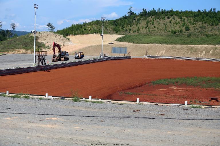 Mountain View Raceway - New dirt track construction 6824