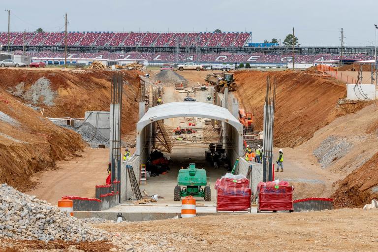 New Talladega Superspeedway tunnel