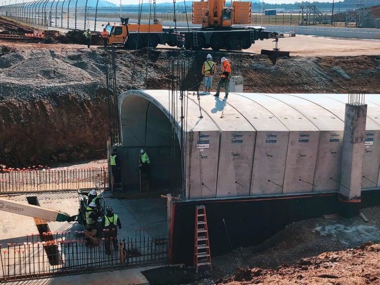 Talladega Transformation - Tunnel under the track