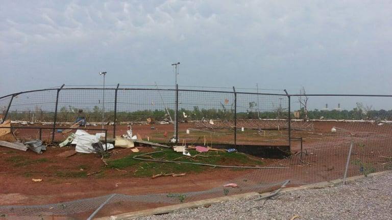 Tornado hits I44 Riverside Speedway