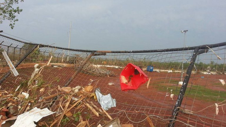 Tornado hits I-44 Riverside Speedway