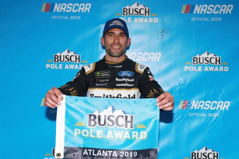 Aric Almirola - Atlanta Motor Speedway - Busch pole award