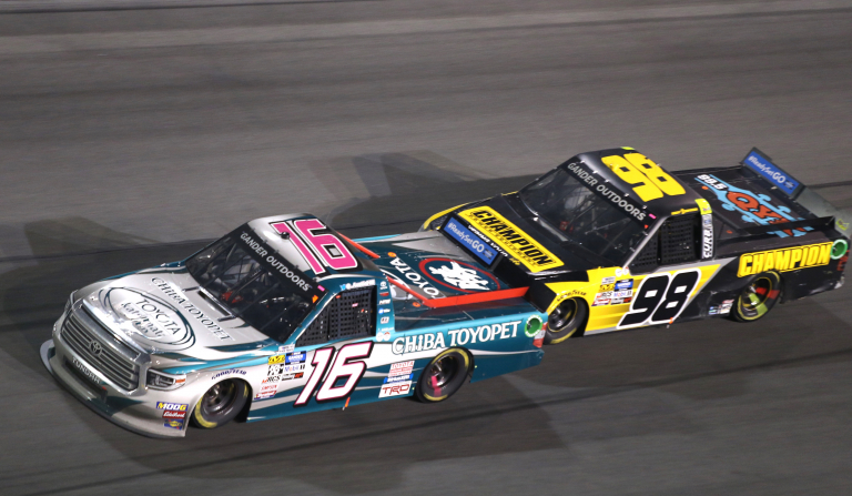 Austin Hill and Grant Enfinger at Daytona International Speedway