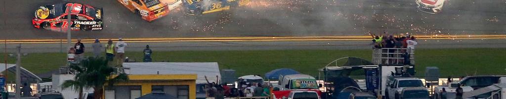 Daytona 500 crash takes out half the field