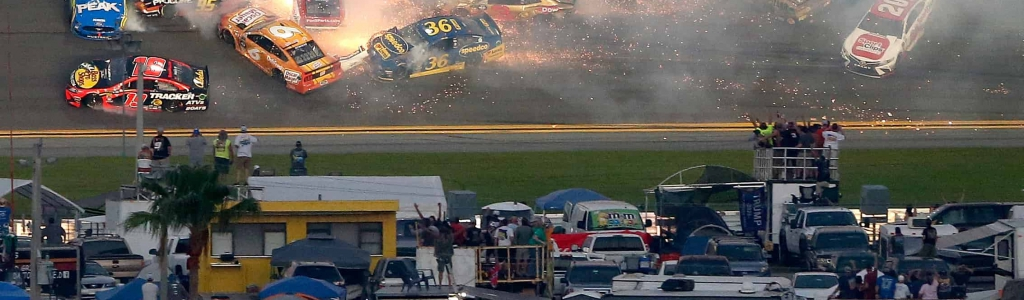 Daytona 500 crash takes out half the field