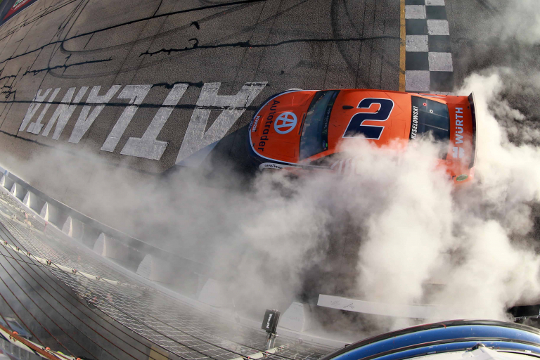 Brad Keselowski - Burnout after winning Atlanta Motor Speedway