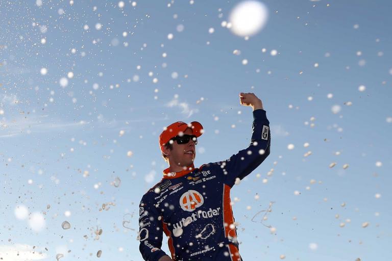 Brad Keselowski in victory lane at Atlanta Motor Speedway