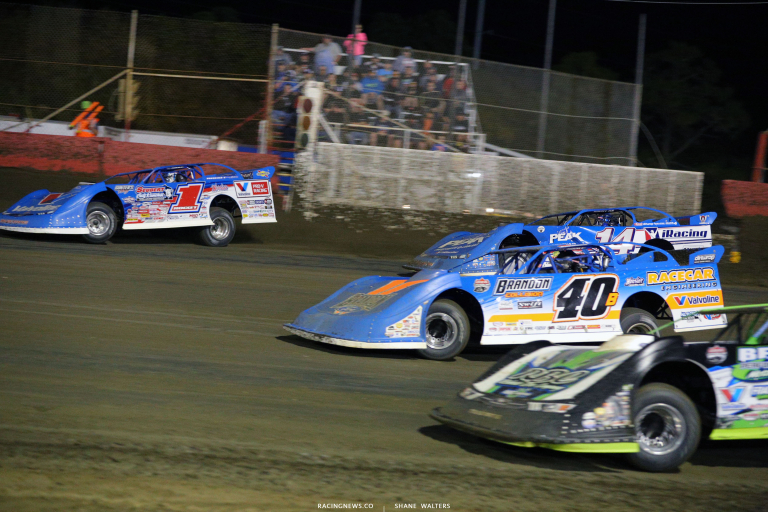 Brandon Sheppard, Tyler Erb, Josh Richards and Kyle Bronson at East Bay Raceway Park 8754