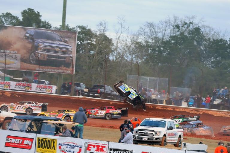 Brian Shirley crash at Golden Isles Speedway 6166