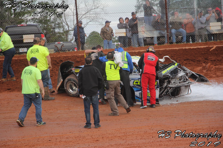 Brian Shirley crash at Golden Isles Speedway