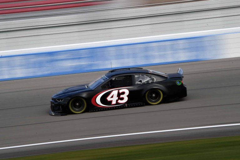 Bubba Wallace during the NASCAR test session at Las Vegas Motor Speedway