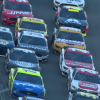 Chase Elliott, Aric Almirola and Paul Menard at Daytona International Speedway