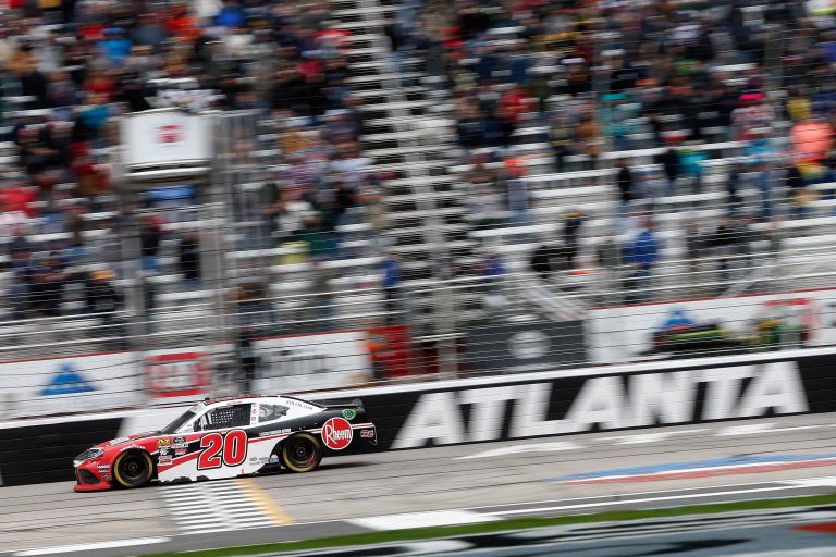 Christopher Bell wins the Atlanta Xfinity race