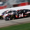 Clint Bowyer and Denny Hamlin at Atlanta Motor Speedway - NASCAR