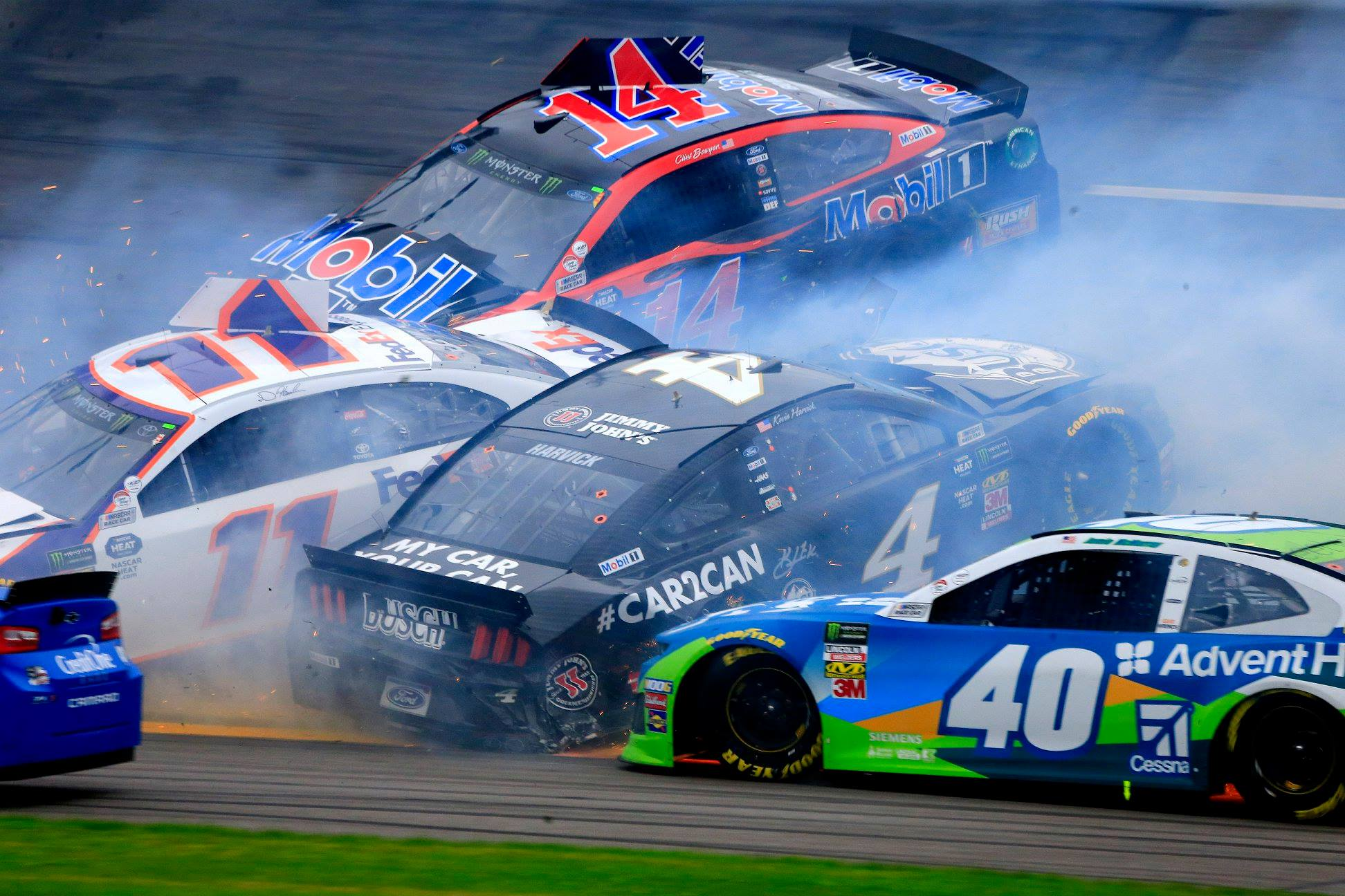 Kurt Busch says Jimmie Johnson was in a 'no zone' on the ...